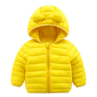 CECORC Light Puffer Jacket Ear Winter Fall Spring Coat Kid Padded Baby Boy Girl Infant Toddler Child Solid Color Warm Down Alternative Soft Washable Polyester Comfort Temperature Low Snow Cold Weather Breathable Durable Nylon Exterior Travel Outdoor Play Active Adorable Cute Cuddly Bear Teddy Outside