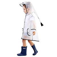 Doubmall Lightweight Rain Slicker Coat Weather Kid Toddler Jacket Dinosaur Shape Rainwear Boy Girl Transparent Yellow Blue Bird Waterproof Cartoon Style Hood Protection Zipper Extra Comfort Cute Outside Outdoor Play Water Resistant Polyester Durable Camping Running Walking Travel Holiday School Portable