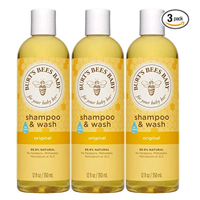 Burt Bees Tear Free Baby Shampoo Wash Pack Mild Natural Gentle Clean Soften Delicate Sensitive Skin Formula Hair Plant Based Soy Protein Fresh Scent Daily Safe Effective