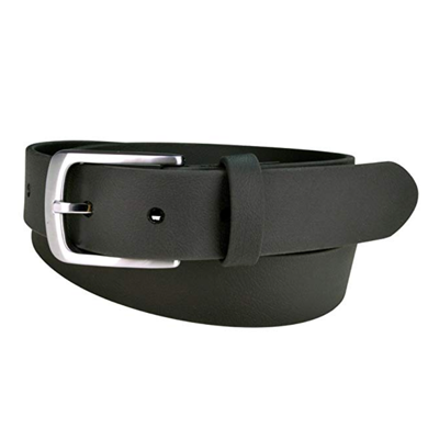 STYLISH & DURABLE: This non- leather belt for men is made with a combination of nylon and vinyl fused together. This same material is used to make horse reins and harnesses, so you know the Truth Sparrow belt is strong, durable and built to last! It comes in two colors (brown and black), and can be worn as a dress belt for men or women, or as a casual belt. The belt buckle has a satin finish on the front. Our mens dress belts are made with cruelty free products!
