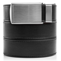 Slide Belts Leather Ratchet Vegan Wardrobe Staple Black Silver Gold Gunmetal Buckle Perfect Fit Adjust Style Distinctive Quality Gift Christmas Birthday Husband Friend Boyfriend Casual Formal