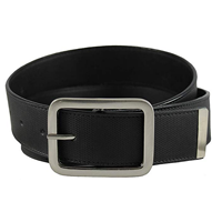 The Vegan Collection Towns Black Non Leather Belt Classic Faux Synthetic Microfiber Buckle Ethical Fair Trade India Gift Casual Classic Formal