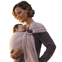 Pura Vida Luxury Ring Sling Baby Carrier Infant Super Soft Comfort Mom Parent Dad Bamboo Linen Fabric Lightweight Wrap Newborn Toddler Shower Gift New Feeding Flap Cover Nursing Natural Womb-like Position Bond Intimate Soothe Sleep Eco-friendly Strong Safety Carry Hip Development Natural