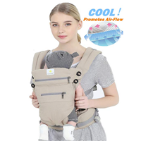 Sunny & Baby Ergonomic 360 Degree Carrier Infant Toddler Front Back 100% Cotton Airflow Comfortable Cool Warm Backpack All Season Sling One Position Fits All Newborn Adapt Safety Lighter Breathable All-in-One Practical Versatile