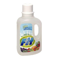 Fit Organic Fruit Vegetable Wash Rid Unwanted Pesticides Contaminant Wax Food Soaker Produce Bottle Three Pack Kosher Natural Wholesome Ingredients Easy-to-use No Taste Smell Soak Water