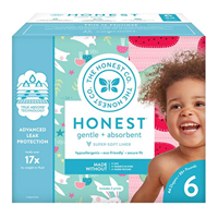 The Honest Company Size Diaper Count Eco-friendly Sustainable Material Range Full TruAbsorb Technology Strawberry Bunnies Advanced Leak Protection Secure Fit Soft Comfort Sustainable Liner Print Leg Cuff