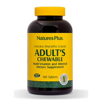 Natures Plus Adult Chewable Multivitamin and Mineral Dietary Supplement