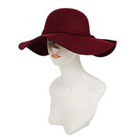Mechaly All Season Vegan Floppy Hat Fall Winter Spring High Quality Classy Classic Soft Burgundy Beige Black Purple Blue Polyester Versatile Durable Beautiful Formal Casual Evening Day Party Theatre Restaurant Simple Elegant Gift Friend Outdoor Travel