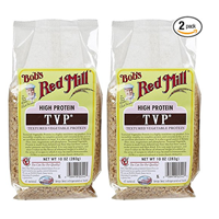 Bob Red Mill Textured Vegetable Protein TVP Basic Store Cupboard Staple Flavor Add Stew Pie Stir Fry Marinade Texture High Nutrition Soy Product No Fat Natural Gluten Free Alternative Meat Substitute Recipe Chilli Pantry Casserole Rehydrate Dehydrated Versatile Easy Kitchen Dinner Cooking
