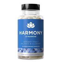 Harmony D-Mannose Urinary Tract Balance Cleanse Pure Natural Formula Fast Acting Wellness Bladder Potency Strong Lasting Protection Clean Impurities Clear System Capsule Hibiscus Extract Ingredients Long Term
