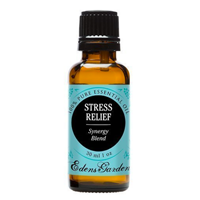 Eden Garden Pure Essential Oil Stress Relief Organic Any Time Place Therapeutic Grade Sweet Orange Bergamot Pachouli Ylang Grapefruit Calm Citrus Glass Amber Bottle Pipette Serenity Freshness Quality
