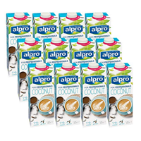 Alpro Coconut Professional – Pack of 12 The delicious taste of coconut and foams beautifully to make superb lattes and cappuccinos.  Also good in porridge and on cereal. Non-diary, vegan, milk alternative, plant-based, dairy-free, nut milk