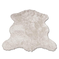 Walk On Me Classic Faux Fur Sheepskin Rub Bed Room Luxury White Polar Bear Plush Silky Soft Comfort Feel Look Authentic Gift House Warming Carpet Stylish Easy Clean France Non-slip Washing Machine