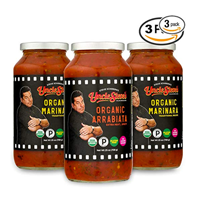 Uncle Steve Tomato Sauce Pack Certified Organic Vegan Ingredient Quick Easy Pasta Spaghetti Pizza Marinara Arrabiata Whole Plum Italy Delicious Fresh Onion Garlic Extra Virgin Olive Oil Basil Spice Kosher Paleo Traditional Recipe Lasagne Ravioli Soup Clean Eating Store Cupboard Staple Cooking
