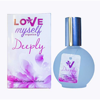 Love Myself Organics Deeply Natural Perfume Smell Feel Good Vegan Scent Alcohol Base Women Teen Ingredients Grape Essential Oil Blend Jasmine Exotic Flower Balsam Fir Relax Boost Self Confidence No Animal Testing