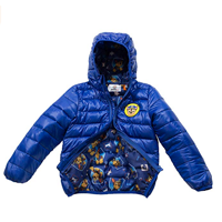 The Arctic Squad Toddler Winter Padded Jacket Super Warm Vegan Puffer Kid Authentic Licensed Product Dark Blue 100% Polyester Boy Ultralight Quick Dry Lightweight Quality Durability Comfort Hood Pockets Windproof Shell Warm Activities Convenient Run Play Compact Packable Fall Spring Casual School Daily Wear Travelling Outdoor