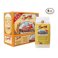 Bob's Mill Brown Rice Flour Pack Manufactured Dedicated Gluten Free Factory Vegan Stone Ground Kosher Binding Quality High Starch Whole Grain Rich Nutty Baked Goods Bread Red
