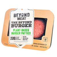 The Beyond Burger Meat Plant-based Burger Patties No Soy Gluten Non GMO Plant Protein Two ¼ Pound Cooks Looks Satisfies Meat Beef