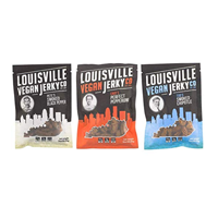 Louisville Vegan Jerky Flavor Variety Sampler Pack Favorite Company Protein Bourbon Smoked Black Pepper Perfect Pepperoni Smoked Spicy Chipotle Low Fat Free Gluten Cholesterol Trans-fat Organic Local Snack Women Health Tamari Maple Soy Kentucky Artisan