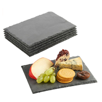 VonShef Mini Slate Cheese Board Plate Fine Dining Dinner Party Entertaining Buffet Multi Use Gift Chalk Attractive Box Wedding Christmas Versatile