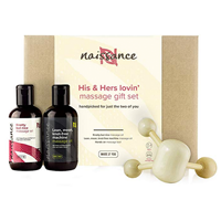 Naissance His & Hers Lovin' Massage Oil Gift Set Sensual and romantic massage oils, perfect for date night and cruelty-free Vegan-friendly, Valentine gift, certified cruelty-free