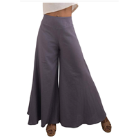 pants Tropic Bliss Wide Leg Organic Cotton Palazzo Pants Fair Trade Bohemian Style Natural Local Soft Breathable Smooth Flattering Colors Versatile Dressy Casual High Waist Ethical