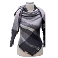 Charlotte Daniel Multi Color Scarf Blanket Toasty Warm Winter Fall Spring Style Black Brown Navy Blush Gray Acrylic Versatile Fashion Gift Evening Day Indoor Outdoor Travel Casual Vacation One Size